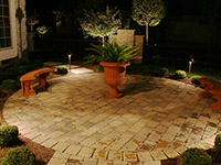 Landscape lighting for decks and patios