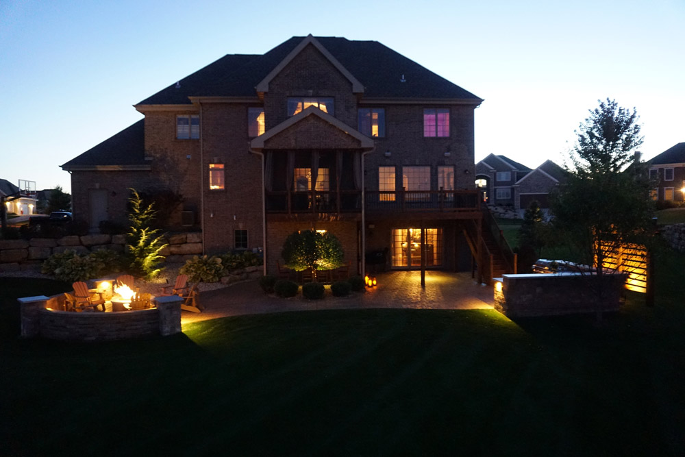 Outdoor lighting tips professional outdoor lighting installation believe it or not its easier and less expensive than you may think to transform your existing patio deck or pool area into a romantic retreat that aloadofball Image collections
